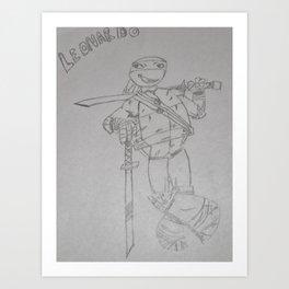 Ninja Turtle Leo Art Print