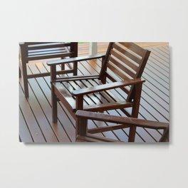 Timber Lines Metal Print
