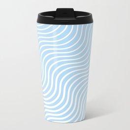 Whiskers Light Blue & White #285 Metal Travel Mug