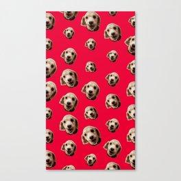 Happy Poodle Canvas Print