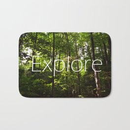 Forest // Silent In The Trees // Explore Bath Mat