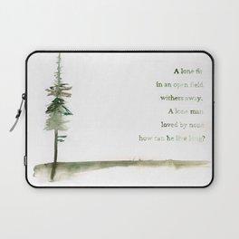 A Viking Proverb - Fir Tree Laptop Sleeve