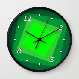 Green squares. Simple geometric background with a light center for your website or business card. Wall Clock