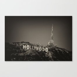 Vintage Hollywood sign Canvas Print