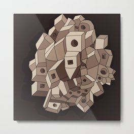 Cube system Metal Print