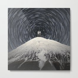 Tardis Mountain Vortex Metal Print