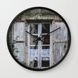 Old Window Wall Clock