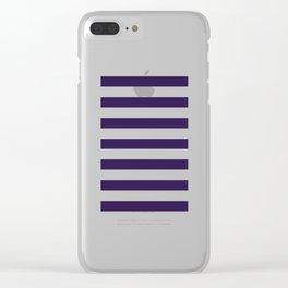 dark purple stripes Clear iPhone Case