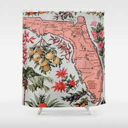 Vintage Map of Florida (1917) Shower Curtain