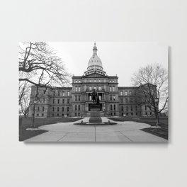 Capitol Building - Lansing, MI  Metal Print