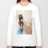 warrior Long Sleeve T-shirts featuring Warrior by Rhiannongigglegoddess