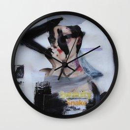 beauty snake Wall Clock