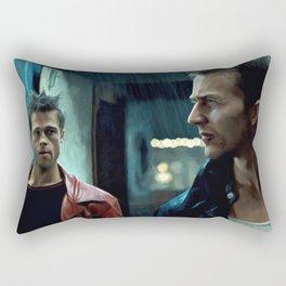 Edward Norton and Brad Pitt Rectangular Pillow
