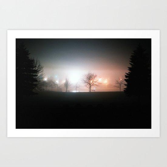 Through the Mist Art Print