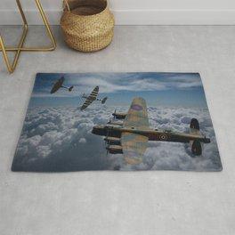 Lancaster Bomber and Spitfires Rug