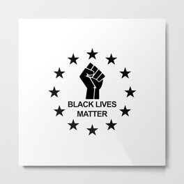 Black Lives Matter Symbol Black Metal Print
