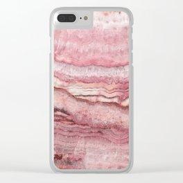Mystic Stone Blush Clear iPhone Case