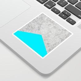 Concrete Arrow - Neon Blue #504 Sticker