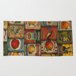 Canned in the USA Beach Towel