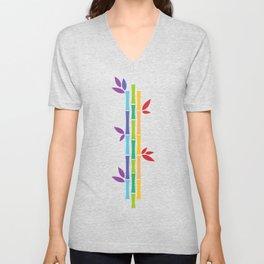 Rainbow Bamboo Unisex V-Neck