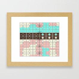 desert modernism Framed Art Print