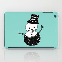 snowman iPad Cases featuring Snowman by Teaspoon Of Me