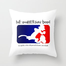the wattrson bowl calvinball Throw Pillow