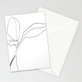 Minimal Line Drawing Birds of Paradise Stationery Cards