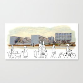 Busy Day at St. Thomas' Hospital, London Canvas Print
