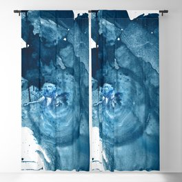 4 am Thoughts [3]: a minimal abstract painting in blue by Alyssa Hamilton Art Blackout Curtain