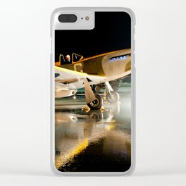 Flaming Mustang Clear iPhone Case