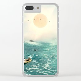 Boat Ride Clear iPhone Case
