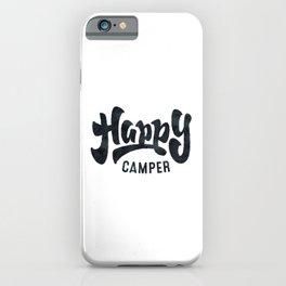 HAPPY CAMPER Black and White Retro iPhone Case