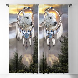 Wolf, Bear and Dream Catcher Blackout Curtain