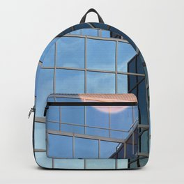 Geometric Reflected Sky Photograph  Backpack
