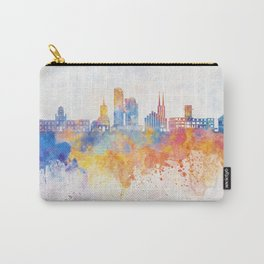 Gdynia skyline in watercolor background Carry-All Pouch