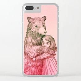 Bear Hugs Clear iPhone Case