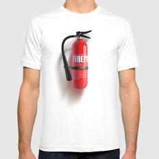 Firefighter MEDIUM Mens Fitted Tee White