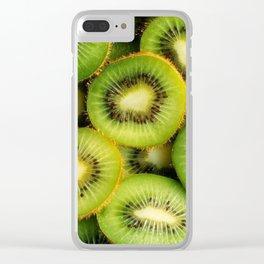 Kiwi Fruit Clear iPhone Case