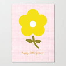 Happy little flower Canvas Print