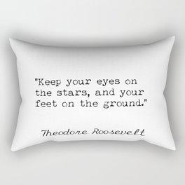 Theodore Roosevelt quote Rectangular Pillow