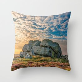 Sunset by Hitching Stone Throw Pillow
