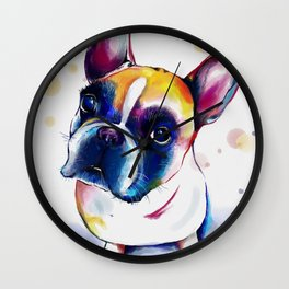 Colorful dog Wall Clock