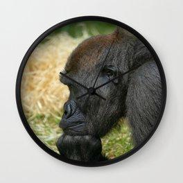 Gorilla Lope Resting His Head Wall Clock