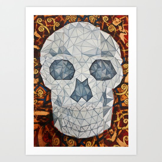Galvanized Skull Art Print