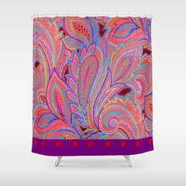 paisley heart  Shower Curtain