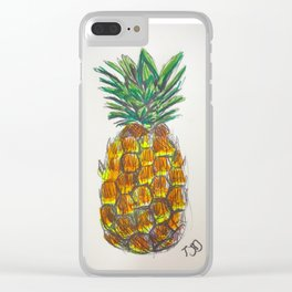 Pineapple sketch Clear iPhone Case