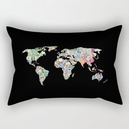 world currency map Rectangular Pillow