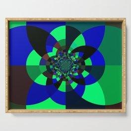 Green Blue Kaleidoscope Serving Tray