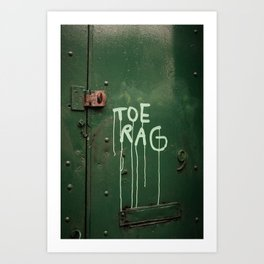 Toe Rag Art Print